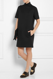 Cédric Charlier Cotton-blend jersey turtleneck mini dress