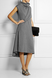 Cédric Charlier Draped scuba-jersey dress
