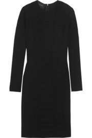 Cédric Charlier Snake-effect crepe dress