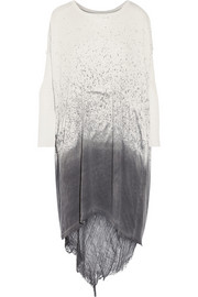 Raquel Allegra Shredded spray-dye cotton-blend jersey dress