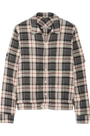 Raquel Allegra Plaid cotton-blend flannel shirt