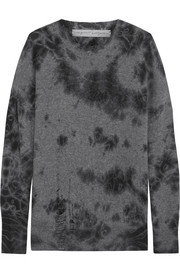 Raquel Allegra Distressed merino wool and cashmere-blend sweater