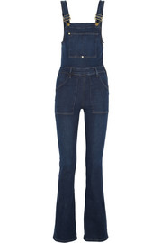 Frame Denim Le High Flare stretch-denim overalls