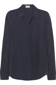 Frame Denim Le Classic washed silk-charmeuse shirt
