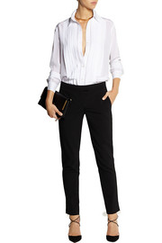 Frame Denim Le Tux silk crepe de chine shirt