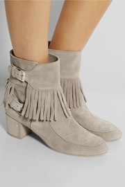 Laurence Dacade Babacar Frangie fringed suede ankle boots