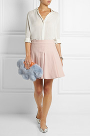 Shrimps Daisy faux fur clutch