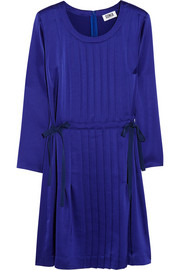 Sonia by Sonia Rykiel Pleated satin mini dress