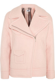 Sonia by Sonia Rykiel Padded brushed wool-blend biker jacket