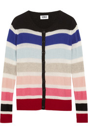 Sonia by Sonia Rykiel Striped wool-blend cardigan