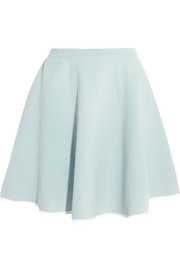 Sonia by Sonia Rykiel Bonded wool and chiffon skirt