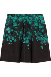 Sonia by Sonia Rykiel Floral-print stretch-scuba jersey mini skirt