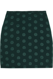 Sonia by Sonia Rykiel Embossed scuba-jersey mini skirt