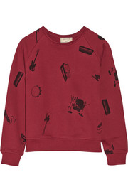 Maison Kitsuné Play It Again cotton-terry sweatshirt