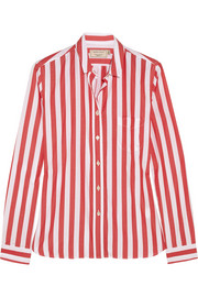 Maison Kitsuné Striped cotton shirt