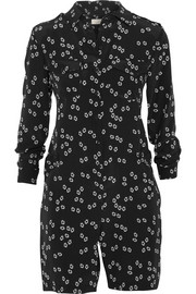 Patti printed silk playsuit
