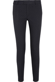 Maison Kitsuné Lou cotton-blend jacquard tapered pants