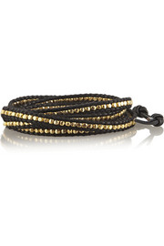 Chan Luu Gold-plated leather wrap bracelet