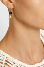 Chan Luu Gold-plated pyrite earrings
