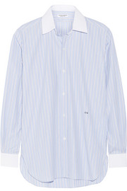 Current/Elliott + Charlotte Gainsbourg The Buttondown striped cotton-poplin shirt