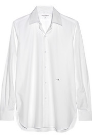 Current/Elliott + Charlotte Gainsbourg The Buttondown cotton-pique shirt