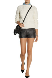 Current/Elliott + Charlotte Gainsbourg The Short leather shorts