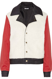 Current/Elliott + Charlotte Gainsbourg reversible faux shearling, denim and twill jacket