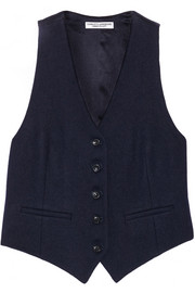 Current/Elliott + Charlotte Gainsbourg The Suit Vest Shrunken wool-blend vest