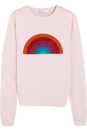 Lulu & Co Appliquéd cotton-jersey sweatshirt