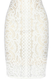 Lover Libra lace pencil skirt