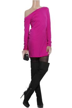 HalstonOff-the-shoulder jersey dress