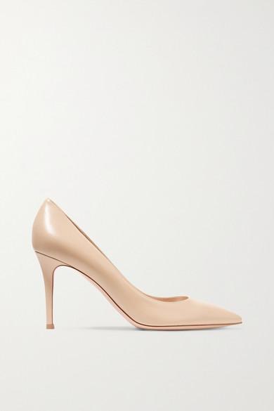 gianvito rossi female 186518 gianvito rossi 85 leather pumps beige