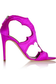 Estelle cutout satin sandals