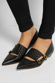 Rupert Sanderson Isolde leather point-toe flats