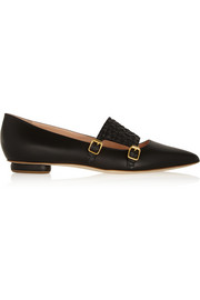 Isolde leather point-toe flats