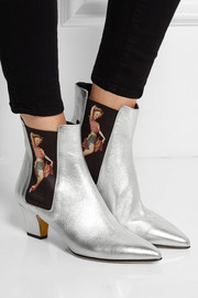 Rupert Sanderson Frances printed metallic leather ankle boots