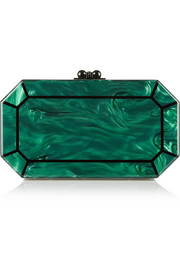 Edie Parker Fiona Faceted acrylic box clutch