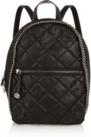 Stella McCartney Quilted faux brushed-leather backpack