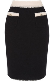 Meadham Kirchhoff Mina wool-bouclé pencil skirt