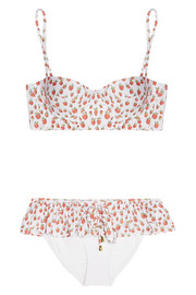 Rosamosario Strawberry Moon printed underwired bikini