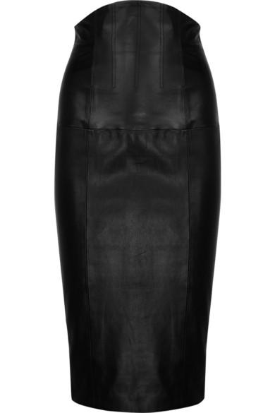 L'Wren Scott | High-waisted leather skirt | NET-A-PORTER.COM