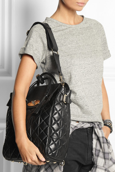 Mulberry. + Cara Delevingne large quilted leather backpack.  2 dede17f064966