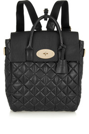 Mulberry + Cara Delevingne large quilted leather backpack