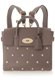 Mulberry + Cara Delevingne studded leather backpack