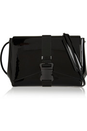 Safety Buckle patent-leather shoulder bag