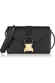 Christopher Kane Safety Buckle textured-leather shoulder bag