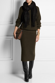 Christophe Lemaire Ribbed yak and merino wool-blend midi skirt