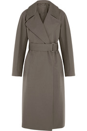 Christophe Lemaire Belted cotton-gabardine trench coat