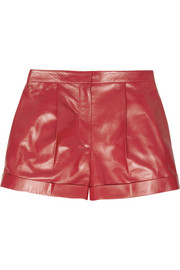Cash & Rocket stud-embellished leather shorts