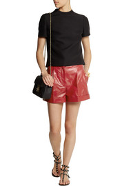 Valentino Cash & Rocket stud-embellished leather shorts